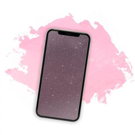 Showtime Glitter Glass (Pink) for Apple iPhone X