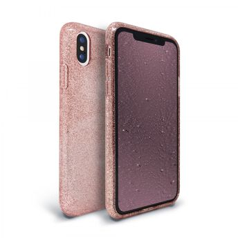 2 IN 1 BUNDLE PACKAGE | Apple iPhone Xs/X Glitter Phone Case & Glitter-Infused Tempered Glass Screen Protector
