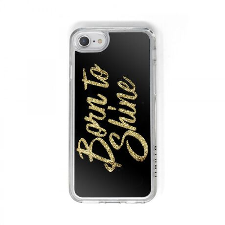 Born to Shine Liquid Glitter Case (Gold) for Apple iPhone 8, 7, 6s, 6