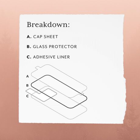 Whats included in the glitter glass screen protector package