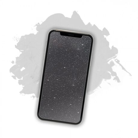 Showtime Glitter Glass (Silver) for Apple iPhone Xr