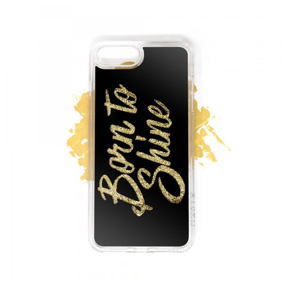 Born to Shine Liquid Glitter Case (Gold) for Apple iPhone 8, 7, 6s, 6 Plus