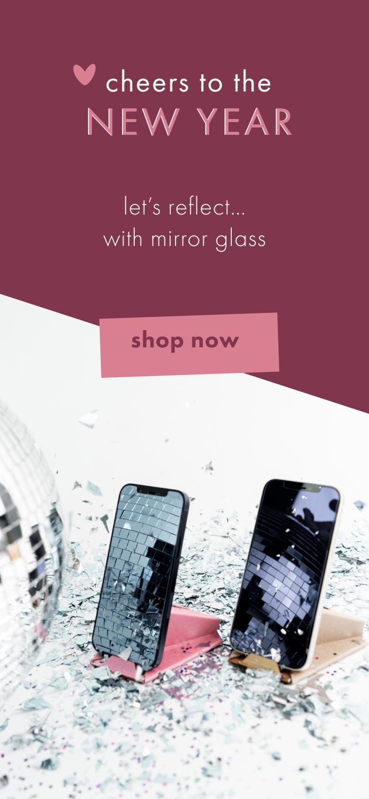 New Years Mirror Glass